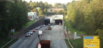 Kanal-Tunnel Rendsburg von Samstag auf Sonntag voll gesperrt