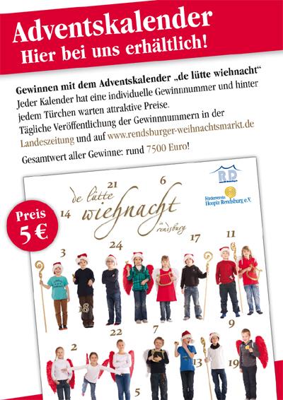 Ab sofort in Rendsburg erhältlich: Adventskalender für den guten Zweck
