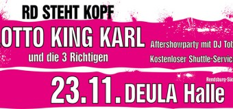 RD steht Kopf – Lotto King Karl rockt die DEULA Halle Rendsburg