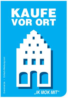 Eine Aktion soll auch Rendsburg erobern  – Kaufe lokal – Rettet die Innenstädte