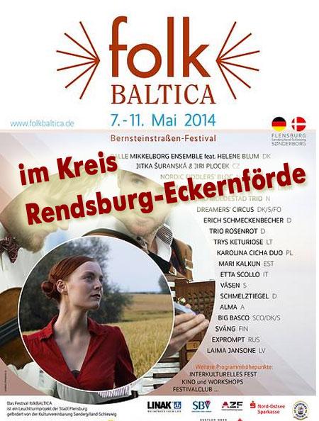 FolkBALTICA mit Top-Konzerten im Kreis Rendsburg-Eckernförde