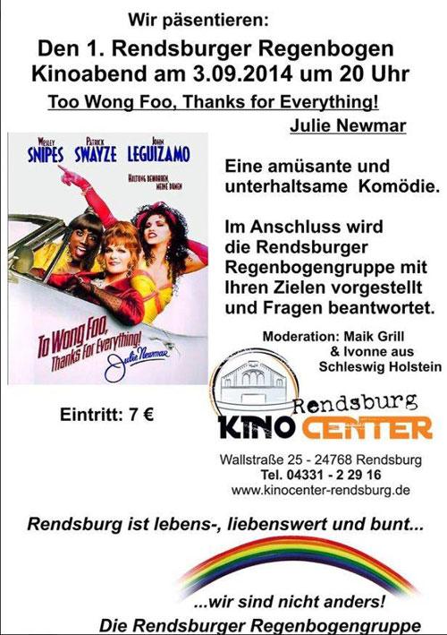 1. Rendsburger Regenbogen Kinoabend zum Rendsburger Herbst