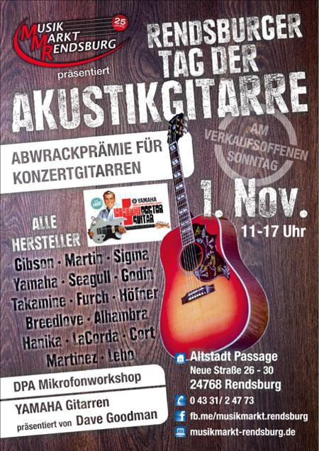 3. Rendsburger Tag der Akustikgitarre im Musikmarkt Rendsburg
