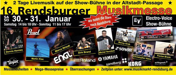 Rendsburger Musikmesse – Der größte Musikmarkt in Schleswig-Holstein