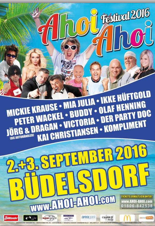 Das Ahoi Ahoi Schlager-Festival in Büdelsdorf bei Rendsburg
