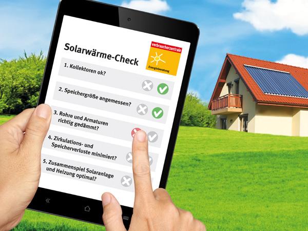 """Neue Angebot: """"Solarwärme-Check"""" der Energieberatung der Verbraucherzentrale"""